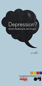 Flyer Sucht und Depression